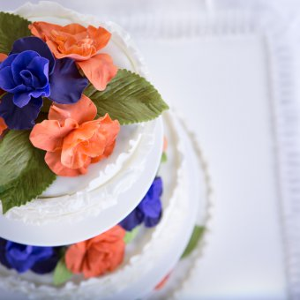 torte floreali pasta di zucchero, fiori pasta di zucchero