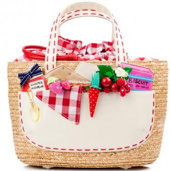 personalizzare borsa di paglia, come decorare borsa di paglia