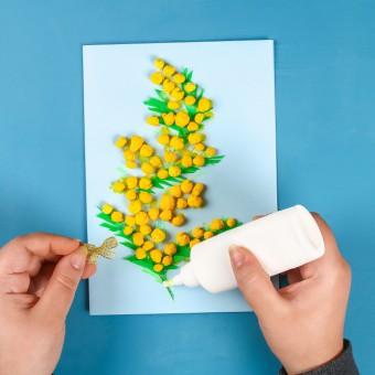 come fare mimosa di carta, mimosa fai da te, mimosa finta