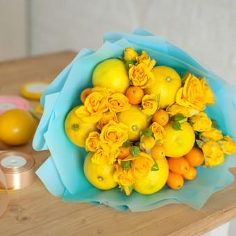 bouquet sposa frutta, bouquet matrimonio frutta, fiori sposa frutta