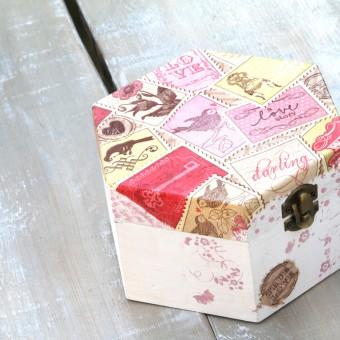 come rivestire scatola legno decoupage, rivestire scatola legno, decoupage scatola legno, decoupage su legno