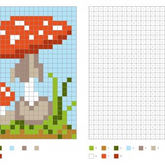 pixel art autunno, schemi pixel autunno