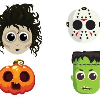 maschere halloween da stampare, maschere halloween
