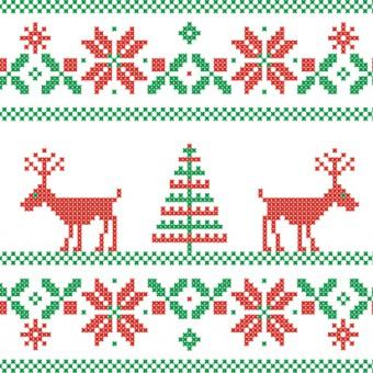 greche natalizie punto croce, greche natale punto croce