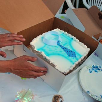 torte decorate panna festa del papà, torte decorate panna, torte festa papà