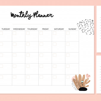 planner mensile da stampare gratis, planner mensile da stampare