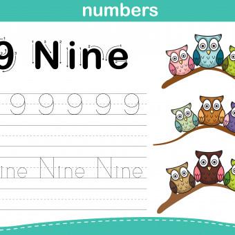schede numeri inglese bambini, schede numeri inglese