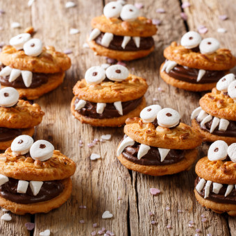 come decorare biscotti halloween, biscotti halloween
