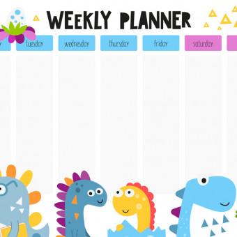 planning settimanale bambini da stampare, planning settimanale bambini, planning settimanale da stampare