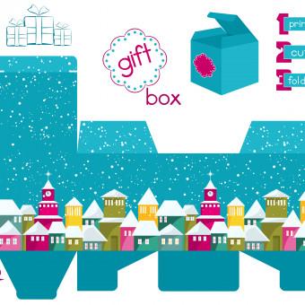 scatoline natalizie da stampare, scatoline natale da stampare