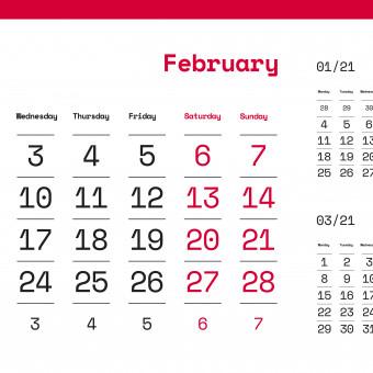 calendario febbraio 2021 da stampare, calendario febbraio 2021, calendario 2021
