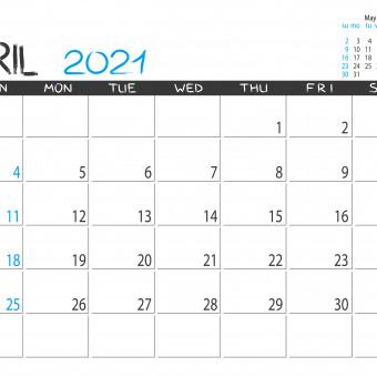 calendario aprile 2021 da stampare, calendario 2021 da stampare