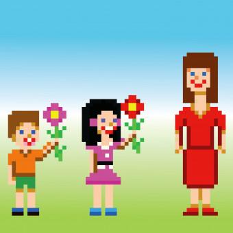 pixel art festa mamma, coding festa mamma