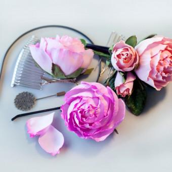 rosa fai da te gomma eva, rosa fai da te gomma crepla, rosa fai da te