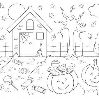 Disegni di Halloween da colorare