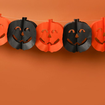 decorazioni halloween fai da te, festoni halloween fai da te
