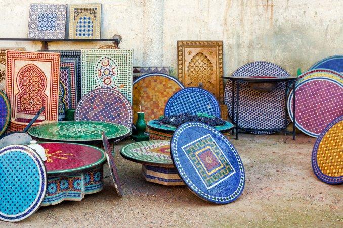 Decorazione effetto mosaico donnad
