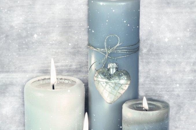candele-blu-neve-decorazione