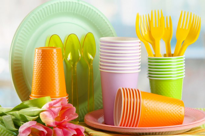 vassoio piatti plastica decorazione