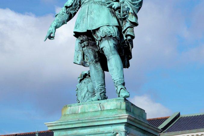 monumento Re Gustavo II Goteborg Svezia