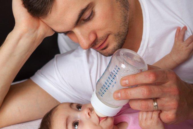 neonato con papà
