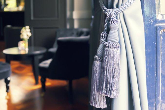 tende, casa, drappeggi, ambiente, arredamento