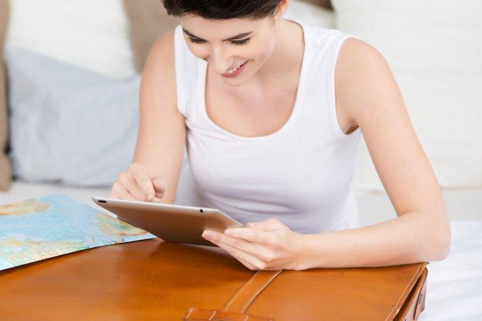 fare la valigia con una app smartphone tablet