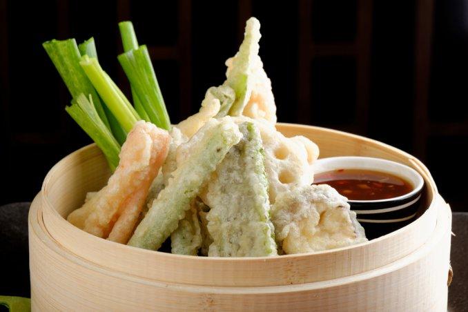 tempura fritto frittelle verdure pastella melanzane shiso carote zucchine fagiolini