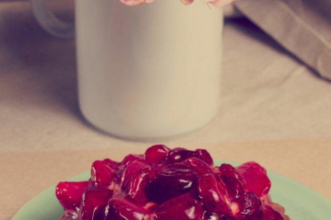 crostata marmellata fragole rosa rose