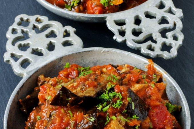 melanzane fritto peperoni peperonata salsa pomodoro