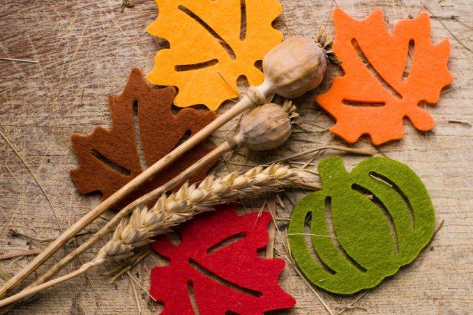 foglie, decorazioni, colori, autunno, segnaposto, centrotavola, ghirlanda