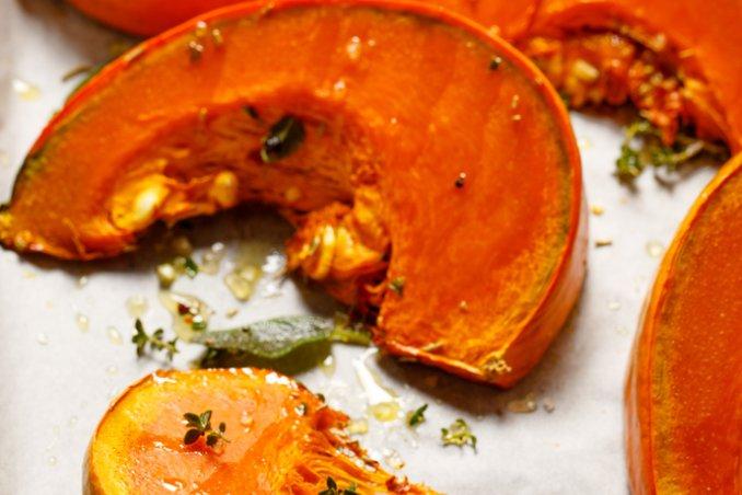 zucca halloween forno erbe olio semi