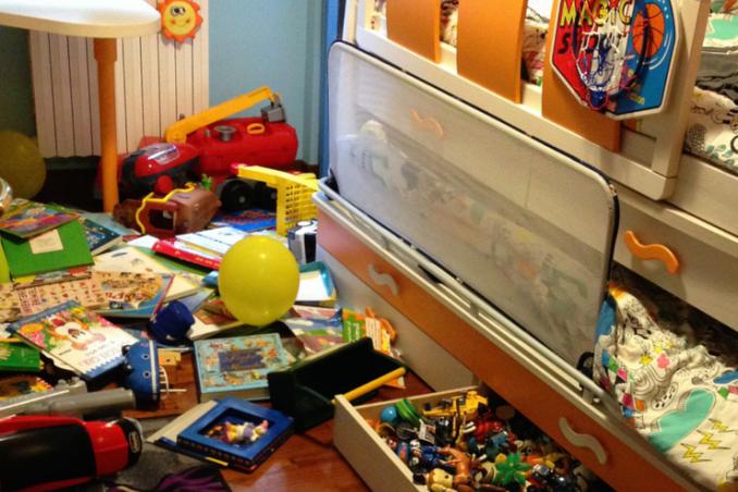 La camera dei bimbi: dal disastro allo splendore