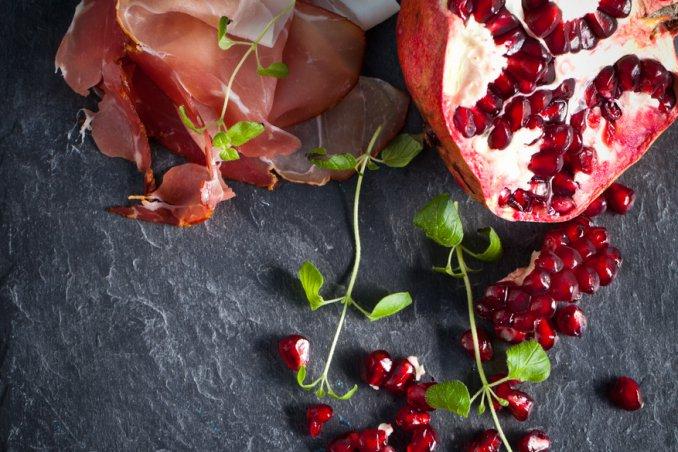 insalata melagrana prosciutto Grana Padano