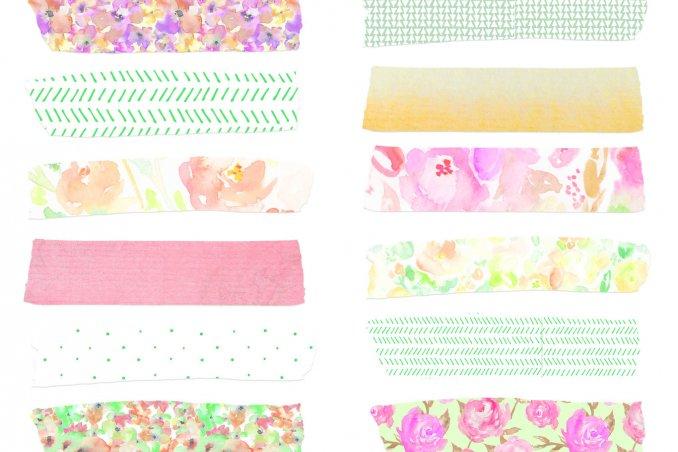 washi tape, nastri adesivi decorativi, nastri adesivi colorati