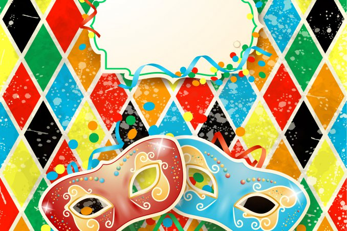 decoupage, carnevale, vassoio, Arlecchino