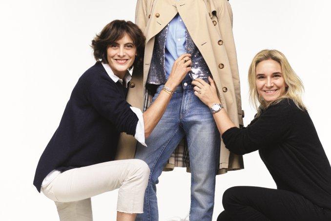"""Ines de la Fressange e Sophie Gachet ©Benoît Peverelli """"COME MI VESTO OGGI?-Il look book della parigina"""" L'Ippocampo Edizioni"""