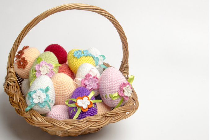 Lavoretti di pasqua all 39 uncinetto i pi originali donnad - Decorazioni per uova di pasqua ...