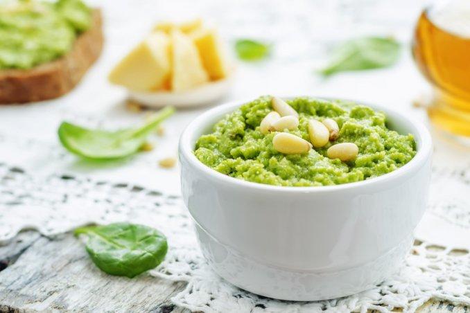 pesto, spinaci, ricette