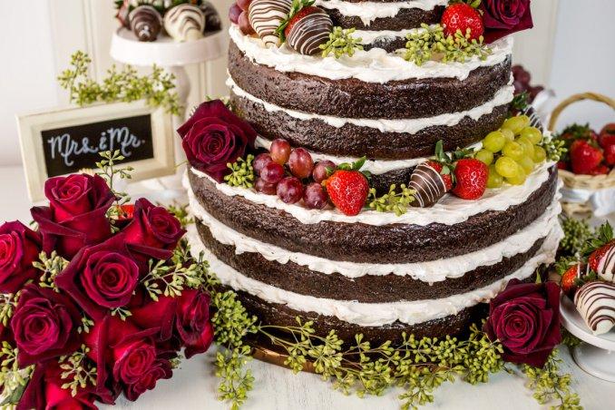 torta nuziale, naked cake, matrimonio
