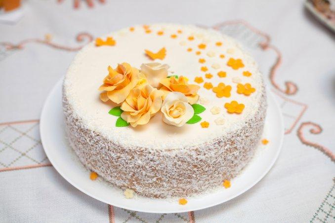 torte per il compleanno della mamma, 7 decorazioni in pasta di