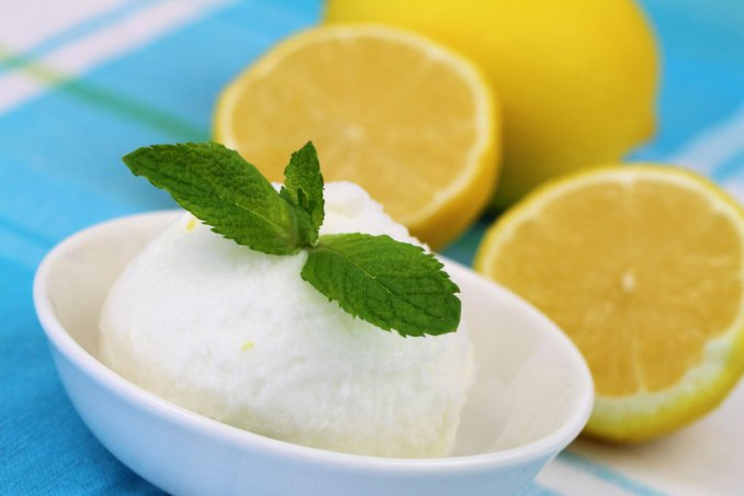 sorbetto limone menta ricetta, sorbetto limone ricetta