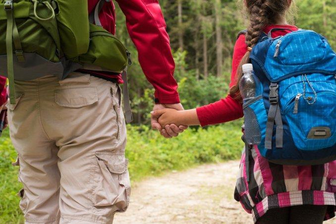 trekking, bambini, percorsi