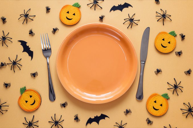 halloween, party bambini, decorare tavola