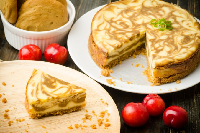 Moka Cheesecake marmorizzata