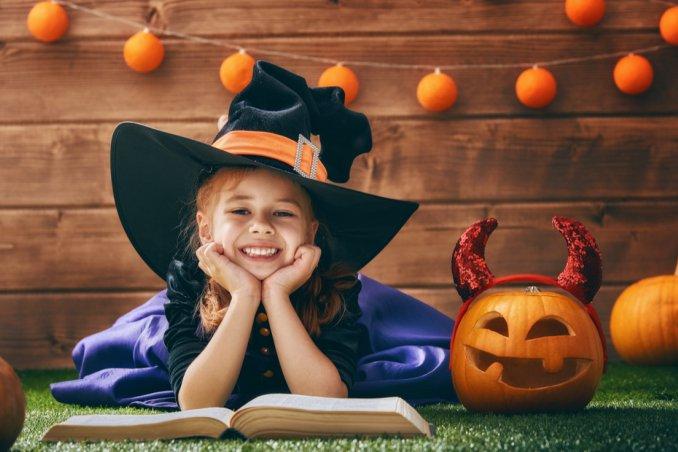 halloween, poesie, bambini