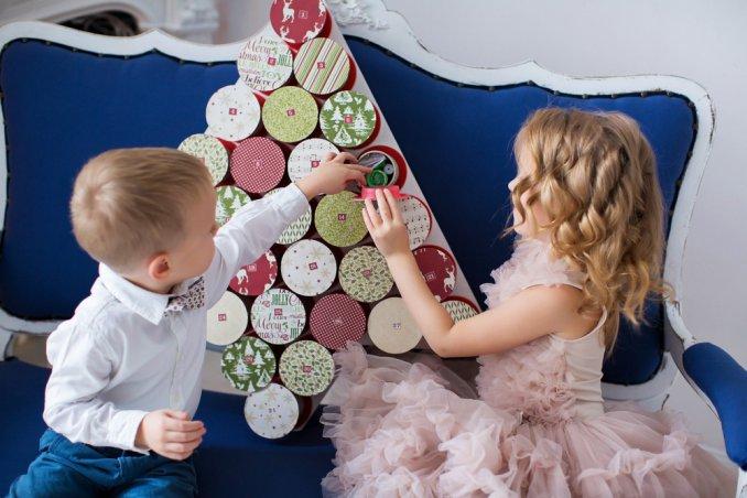 calendario avvento fai da te bambini, calendario avvento fai da te