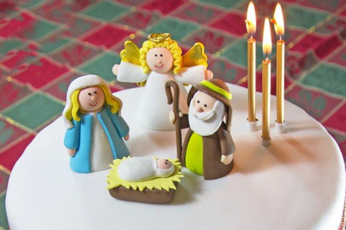 torte natale pasta di zucchero, decorazioni natale pasta di zucchero