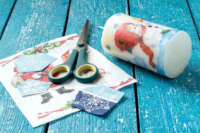 Decorare Candele Di Natale : Candele speciali con il decoupage donnad