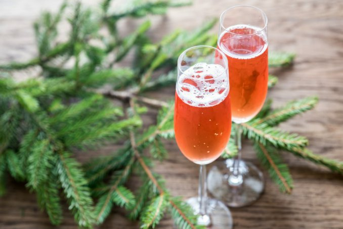 natale, cocktail, spumante